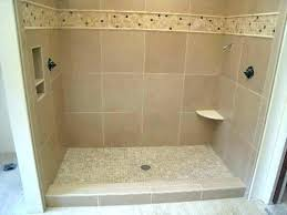 Installing Tile Shower Pan Installing Shower Tile Shower Floor Is Installed This Shower