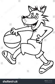 wolf basketball coloring book stock vector 270916625 shutterstock