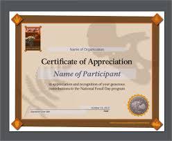 sample certificate of appreciation temaplate 22 download