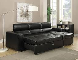 Contemporary Sectional Sofa With Chaise Contemporary Black Bonded Leather Match Sectional Sofa Chaise