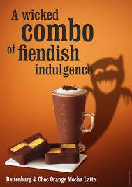 halloween menu chocolate u0026 orange mocha latte and chocolate