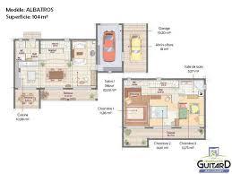 plan maison etage 3 chambres maison contemporaine à étage et toit plat modèle albatros j f m