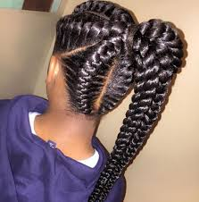 hair braided into pony tail 20 gorgeous goddess braids styles to go gaga over