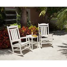 Outdoor Furniture Rocking Chair by Recycled Plastic Outdoor Rocking Chair Polywood Presidential
