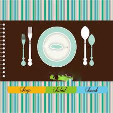 creative restaurant menu design vector background material vector