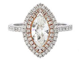 marquise cut diamond ring certified marquise cut diamond halo engagement ring in 14k white