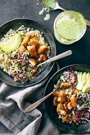 spicy fish taco bowls with cilantro lime slaw recipe pinch of yum