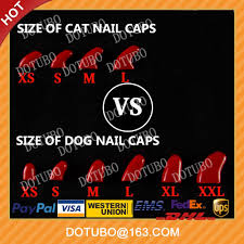 new colour comfortable dog nail caps dog claws 6 sizes for choose