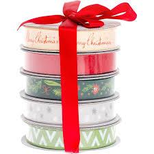 american crafts ribbon 3yd each 5 pkg u2013 christmas thompson craft