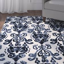 charlton home leonard blue cream area rug u0026 reviews wayfair