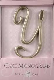 lillian cake topper y monogram wedding cake topper by lillian small gold sale
