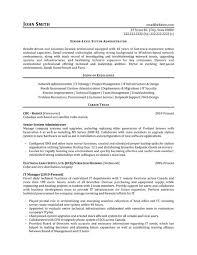 Canada Resume Sample by System Administrator Resume Sample U0026 Template