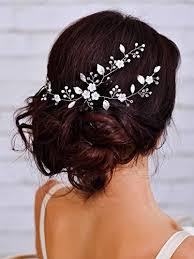bridal hair accesories aukmla bridal hair vine wedding headpiece with simple