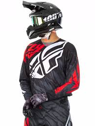 signed motocross jerseys fly racing black red white 2017 kinetic relapse mx jersey fly