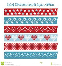 washi tape designs set of vintage christmas washi tapes ribbons elements stock vector