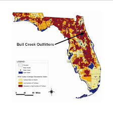 Population Map Florida Turkey Population Distribution Map Bull Creek