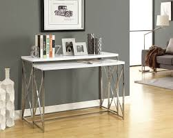 Grey Entryway Table by Amazon Com Monarch Reclaimed Look Chrome 2 Piece Console Tables