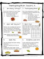 4 learning thanksgiving math freebies