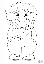 simple clown coloring page free printable coloring pages
