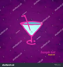 martini drawing martini glass icon straw hand drawing stock vector 162004511