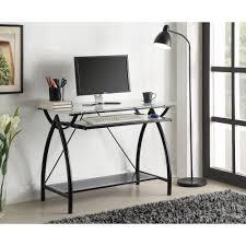 glass top computer desk ospdesigns black desk sat117 the home depot
