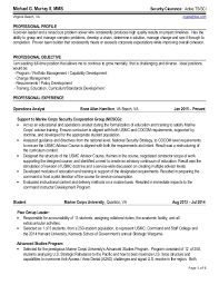Examples Of Federal Resumes by Michael G Murray Ii Federal Resume March 2015