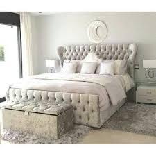 Atlanta Bed Frame Black Or Silver New Or King Size Crushed Velvet