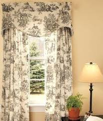 black toile curtains black rod pocket curtains black and white