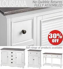 Bedroom Furniture Louisiana Louisiana White Kitchen Hallway Furniture Dresser Console Table