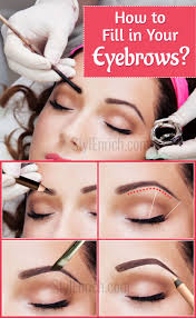 How To Color In Eyebrows How To Fill In Your Eyebrows To Achieve An Ideal Look