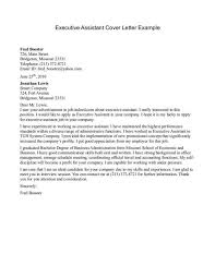 sample cover letter for executive assistant docoments