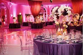 Wedding Decoration Ideas Purple Modern Wedding Reception