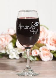wedding gift glasses best 25 bachelorette wine glasses ideas on monogram