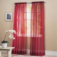 red sheer curtains bedroom window treatments easy bedroom decor
