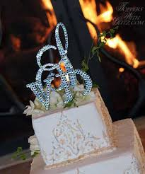 bling cake toppers bling monogram wedding cake toppers wedding corners