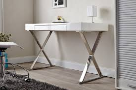 bureau desing bureau design laqué blanc elyse 100 cm
