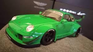 rauh welt porsche 993 gt spirit 1 18 porsche 993 911 rwb rauh welt begriff green