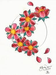 cherry blossom flowers design pretty