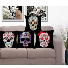canap sucr sucre mexicain crânes coussins housse de coussin décoratif