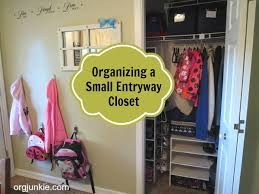 how to organize a closet organizing a small entryway closet day 14