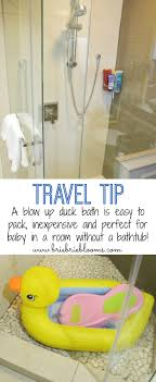 travel bathtub baby traveling with baby how to bath a baby in a room without a tub