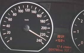 bmw speedometer bmw 120i 229km h 142 mph car top speed max speed speedometer