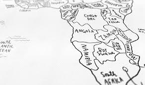 sketch map typography design world map