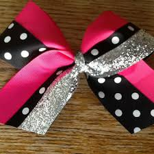 african american cheer hair bows shop black and silver cheer bows on wanelo