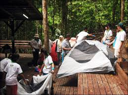 How To Build A Tent Borneo Tropical Rainforest Resort