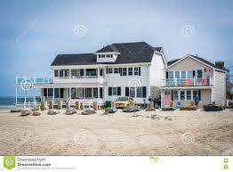 beachfront home in hampton beach new hampshire editorial stock