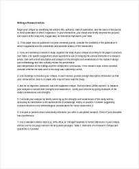 10 article writing exles sles doc pdf