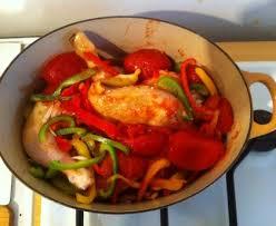 cuisine poulet basquaise poulet basquaise au chorizo recette de poulet basquaise au chorizo