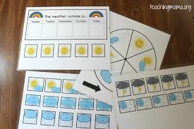 diy preschool weather board with free printables teaching mama