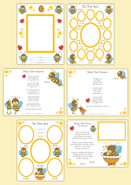 premade scrapbook pages bumble bee baby girl memory book first sold by decampstudios